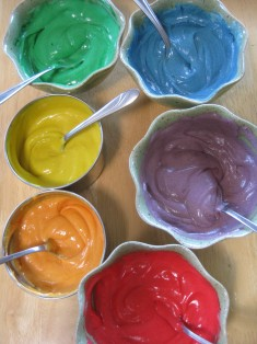 Rainbow Cupcakes with Cream Cheese Frosting   spontaneous tomato