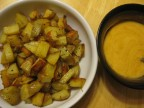 Papas Bravas: potato tapas with spicy aioli sauce