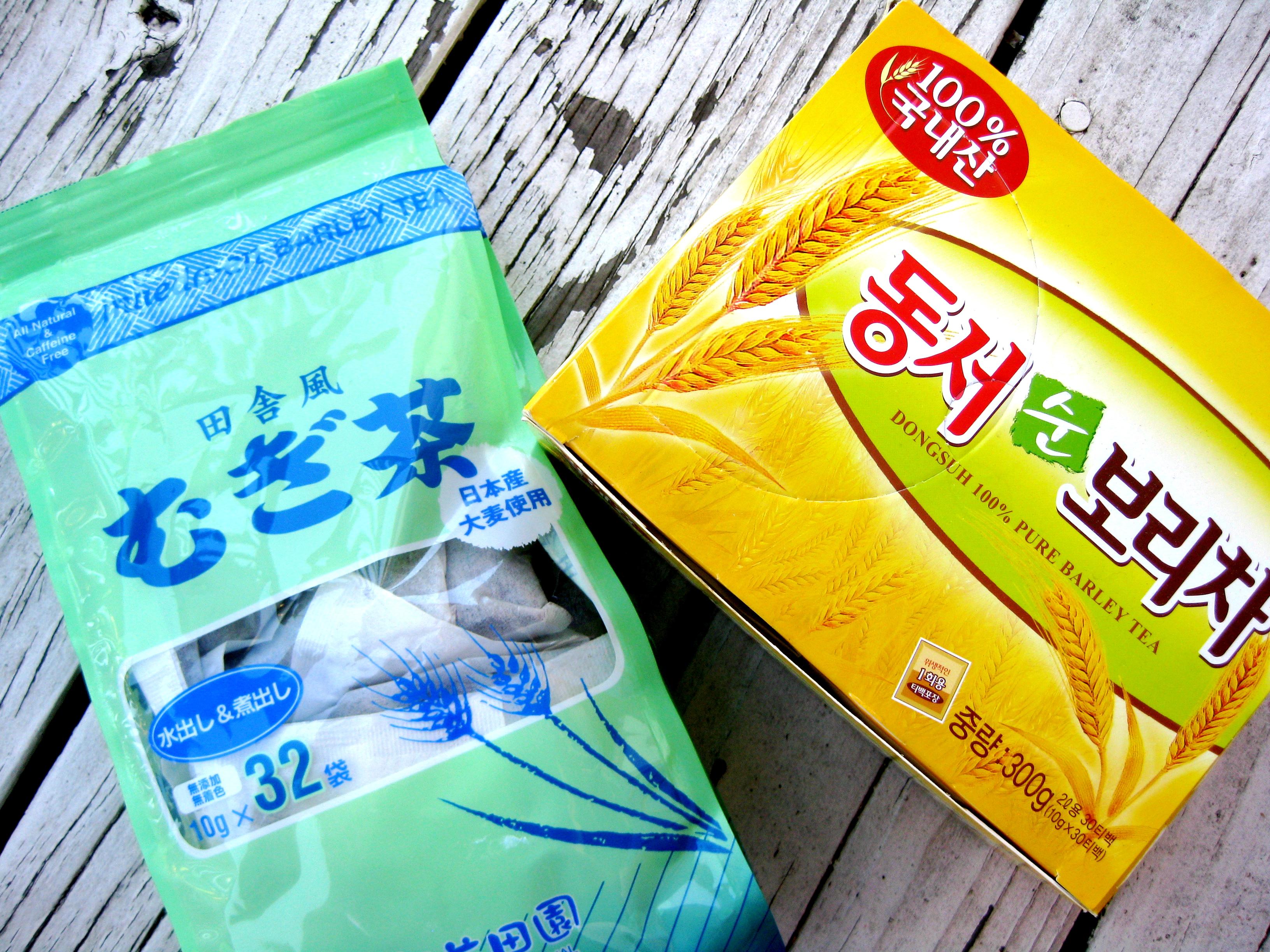 ... 茶 mugi-cha) and Korean (보리차 pori-cha) roasted barley tea bags