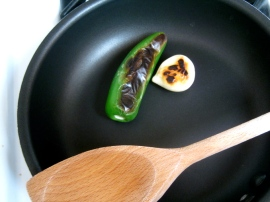Charred Jalapeño and Garlic