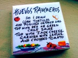 Huevos rancheros recipe magnet