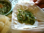 Christmas Tamales with Chicken and Poblanos