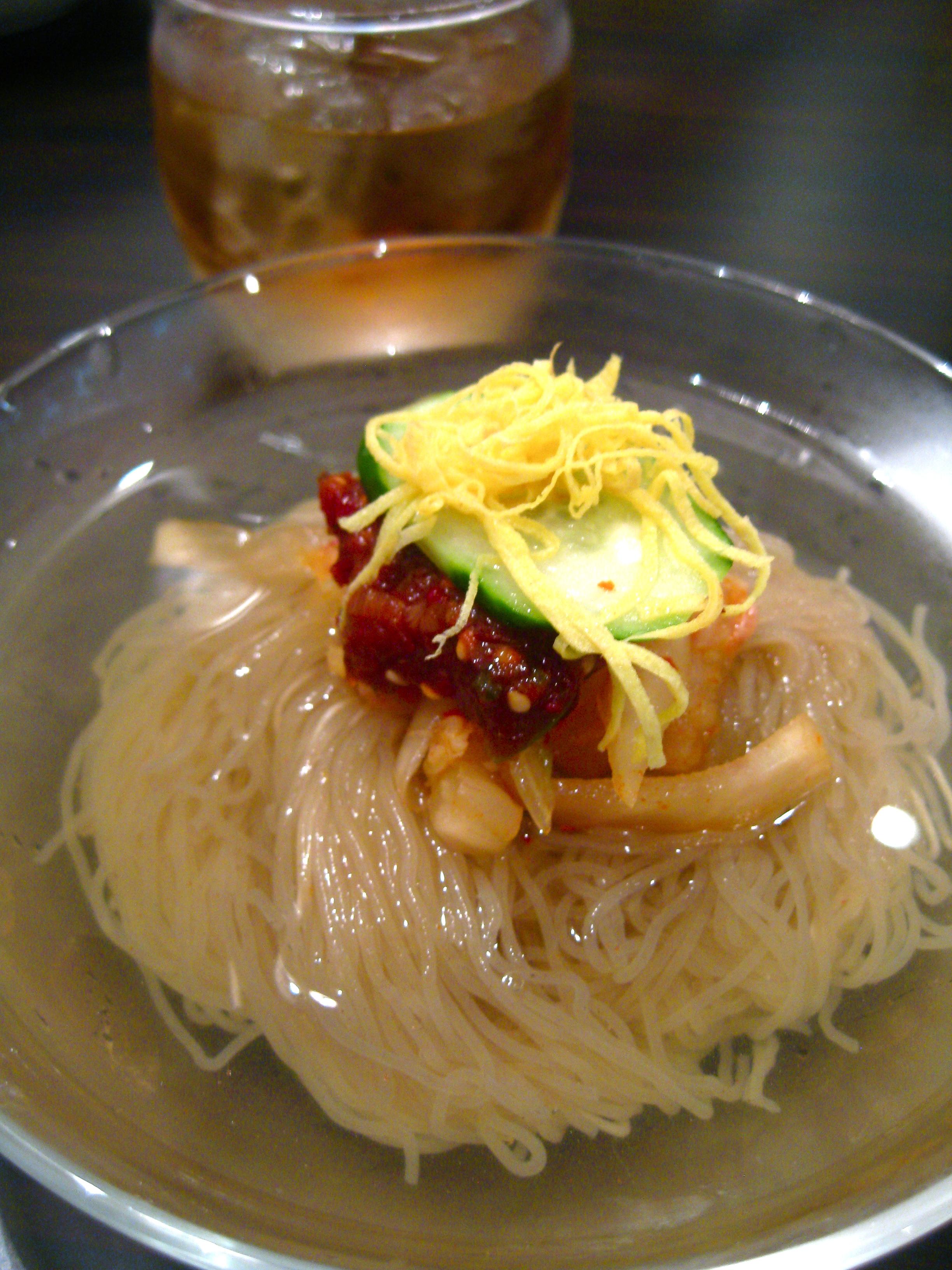 Korean Naengmyon Ice Cold Noodles In Tokyo