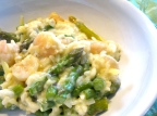 Asparagus Risotto with Shrimp, Lemon, and Goat Cheese