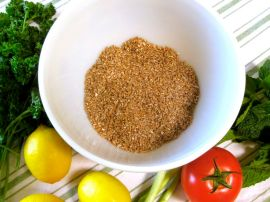 Ingredients for Tabbouleh (Bulgar Wheat Salad with Parsley and Mint)