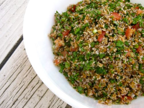Tabbouleh (Bulgar Wheat Salad with Parsley and Mint)