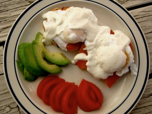 Eggs Benedict with Greek Yogurt Hollandaise Sauce