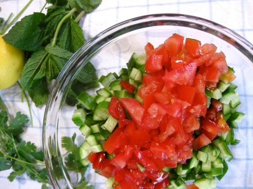 Shepherd's Salad Ingredients
