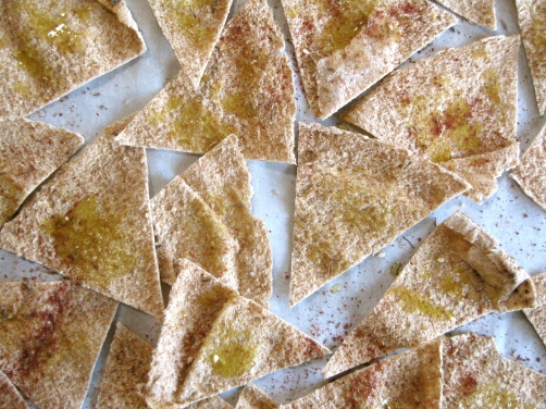 Homemade Pita Chips with Za'atar