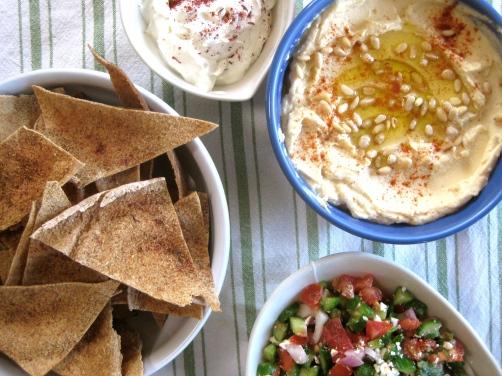 Shepherd's Salad, Pita Chips, Labne Olive Oil Dip, Hummus