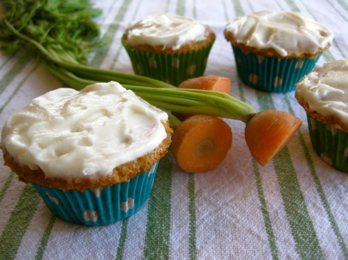 Buttermilk Carrot Cake Cupcakes with Cream Cheese Frosting