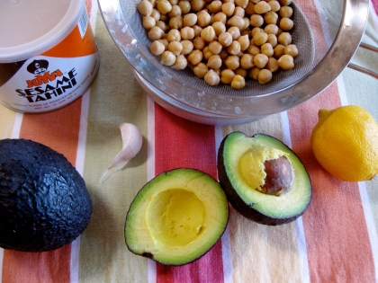 Avocado Hummus Ingredients