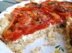 Heirloom Tomato Goat Cheese Tart