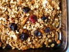 Almond Coconut Granola with Dried Cherries