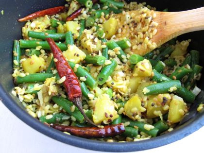 how to make green beans curry indian style