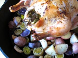 Whole Roasted Chicken with Root Vegetables
