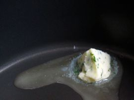 Melting Chive Butter for Cilantro Lime Moules Frites