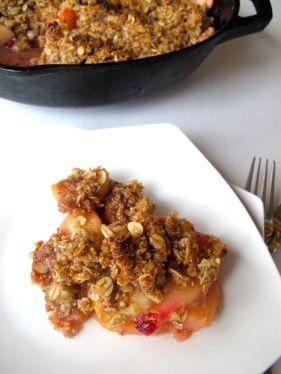 Skillet Cranberry Apple Crisp (Gluten-Free)