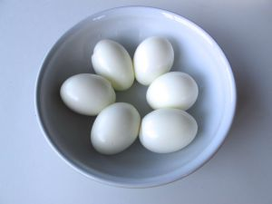 Hard-boiled eggs for Sambal Goreng Telur (Indonesian Egg Curry)