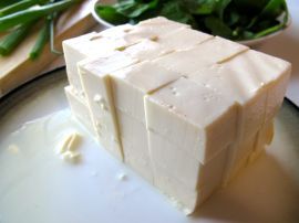 Sliced soft tofu for Hearty Miso Soup