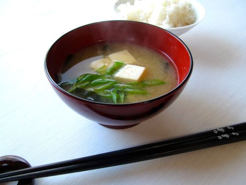 Miso Soup with tofu and scallions