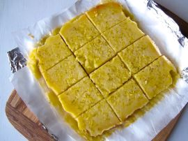 Making Zesty Lemon Lime Bars
