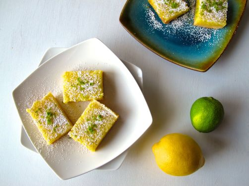 Zesty Lemon Lime Bars