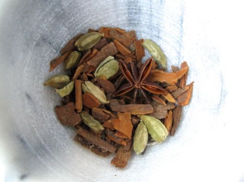 Cinnamon, cardamom, and star anise