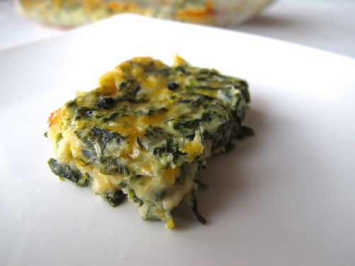 Spinach Cheese Mini Quiche Squares