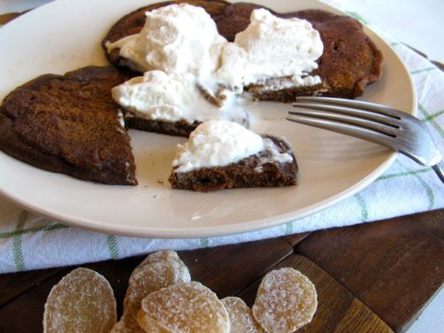 Gingerbread Pancakes with Cinnamon Coffee Whipped Cream