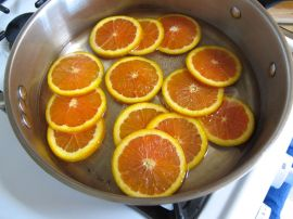 Candied Orange Slices for Cara Cara Orange Chocolate Upside-down Cake