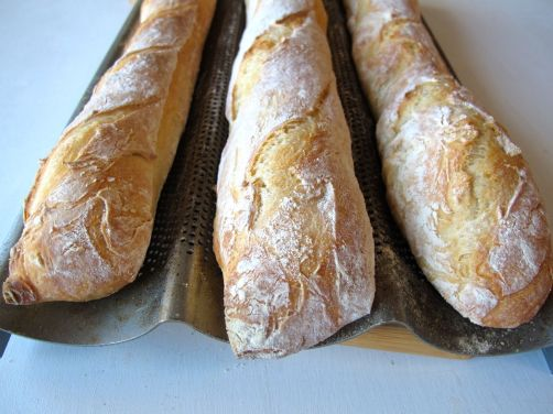 Pain à l'Ancienne No-Knead Baguettes