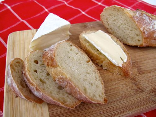 Pain à l'Ancienne No-Knead Baguettes with Brie Cheese