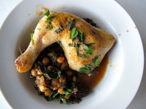 Chicken Tagine with Chickpeas, Chard, and Dried Figs | spontaneous ...