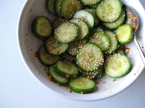Easy Korean Pickled Cucumber Banchan
