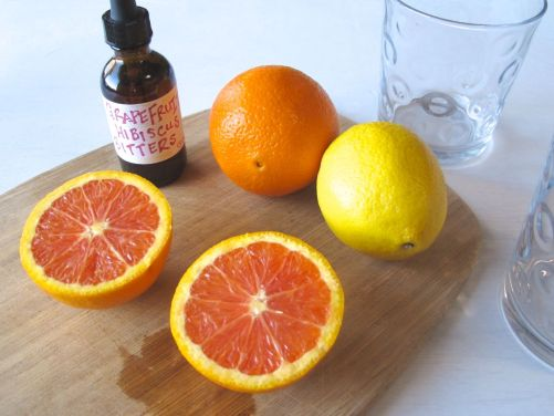 Cara Cara Orange Cocktail with Homemade Grapefruit Bitters
