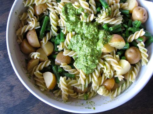 Pasta Genovese with Pesto, Potatoes, and Green Beans