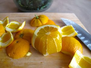 sectioning an orange