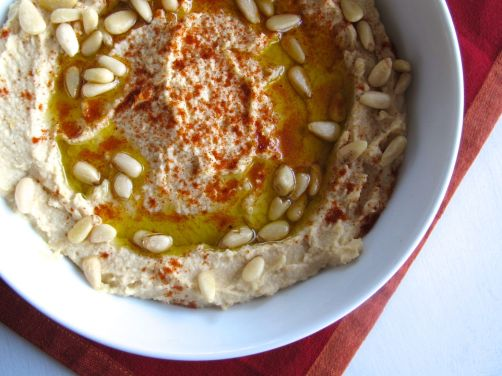 Hummus with Pine Nuts and Paprika