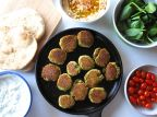 Baked Falafel with Tzatziki Yogurt Sauce