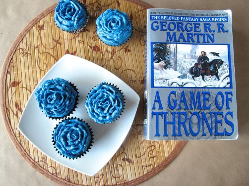 Blue Rose of Winterfell Cupcakes inspired by Game of Thrones