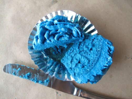 Blue Rose of Winterfell Rose Water Cupcakes