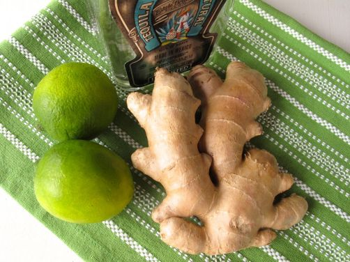 Tequila, limes, and ginger