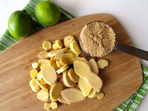Ginger lime syrup ingredients