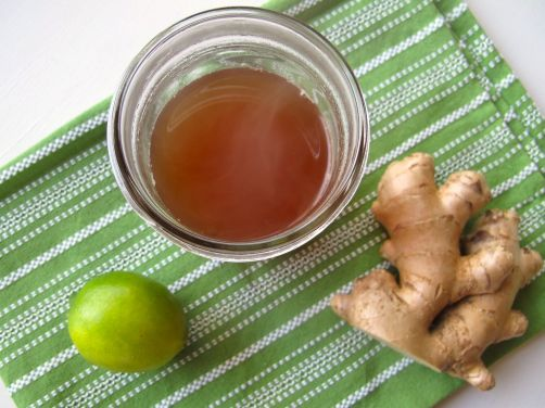 Ginger lime syrup for homemade ginger ale