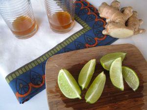 Ginger lime syrup for homemade ginger ale
