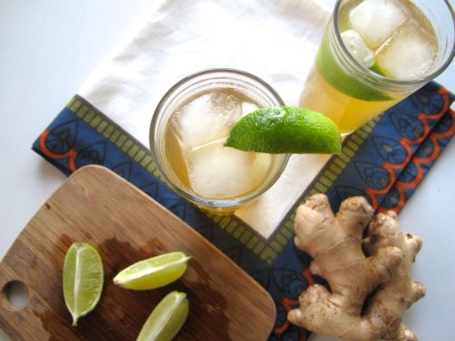 The Chinchilla cocktail with ginger and lime