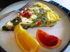 Mediterranean Frittata with potatoes, spinach, and feta