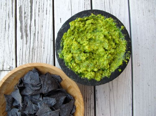 Roasted Tomatillo Guacamole