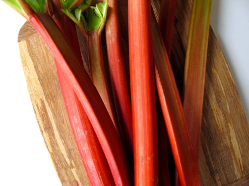 Rhubarb for Rhubarb Blood Orange Ginger Jam